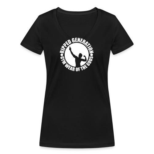 Ripped Generation Logo - Stanley & Stellan naisten v-aukkoinen luomu-T-paita