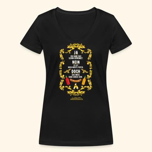 coole Geschenkidee: lustiges Grillsprüche-Shirt - Frauen Bio-T-Shirt mit V-Ausschnitt von Stanley & Stella
