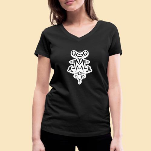 Gymmaus on black - Frauen Bio-T-Shirt mit V-Ausschnitt von Stanley & Stella
