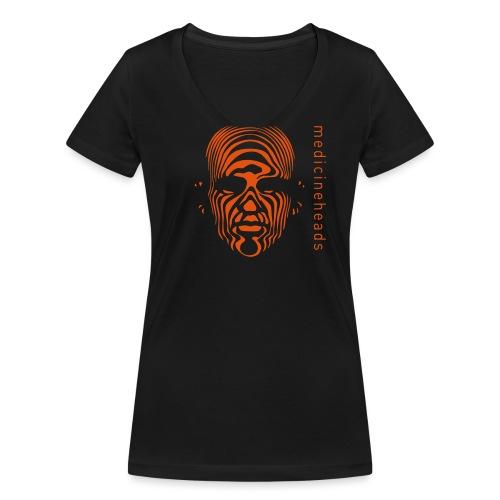 medicineheads_logo_neg - Økologisk T-skjorte med V-hals for kvinner fra Stanley & Stella