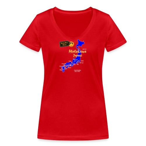 Motokawa-01 - Stanley & Stellan naisten v-aukkoinen luomu-T-paita