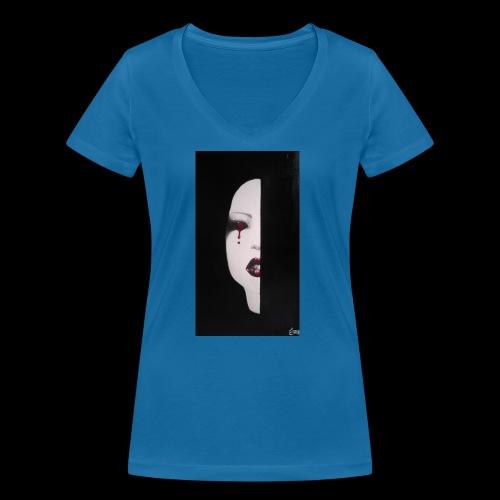BlackWhitewoman - T-shirt ecologica da donna con scollo a V di Stanley & Stella