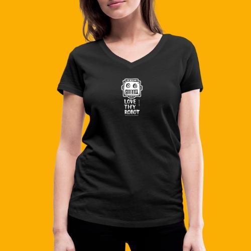 Dat Robot: Support this cute face - Vrouwen bio T-shirt met V-hals van Stanley & Stella
