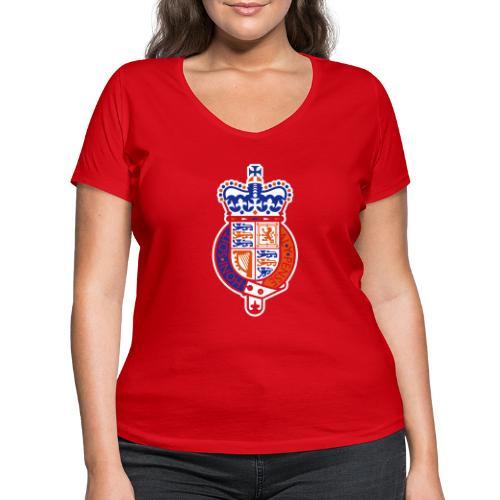 British Seal Pixellamb - Frauen Bio-T-Shirt mit V-Ausschnitt von Stanley & Stella