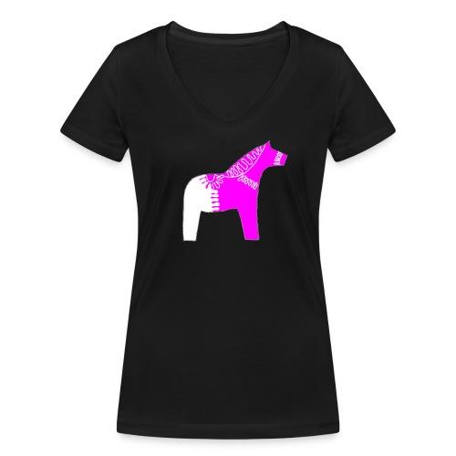 Dala by Pinni Art® pink - Frauen Bio-T-Shirt mit V-Ausschnitt von Stanley & Stella