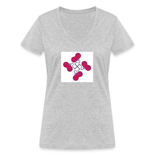 unkeon dunkeon - Stanley & Stellan naisten v-aukkoinen luomu-T-paita