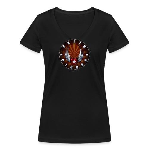 FAITH CIRCUS 2020 - Women's Organic V-Neck T-Shirt by Stanley & Stella