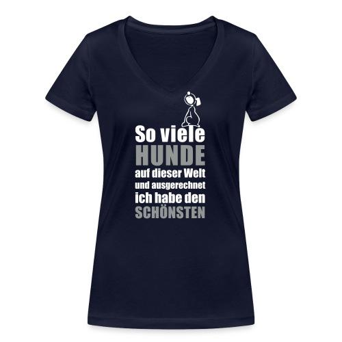 Vorschau: Der schönste HUND - Frauen Bio-T-Shirt mit V-Ausschnitt von Stanley & Stella