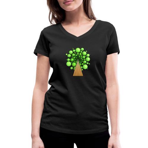 Kugel-Baum, 3d, hellgrün - Frauen Bio-T-Shirt mit V-Ausschnitt von Stanley & Stella
