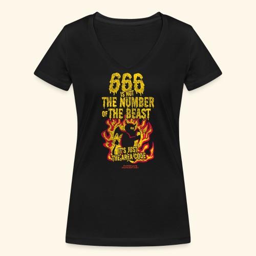 666 Is Not The Number Of The Beast T Shirt - Frauen Bio-T-Shirt mit V-Ausschnitt von Stanley & Stella
