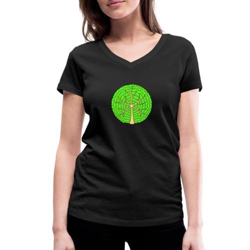 Baum, rund, hellgrün - Frauen Bio-T-Shirt mit V-Ausschnitt von Stanley & Stella