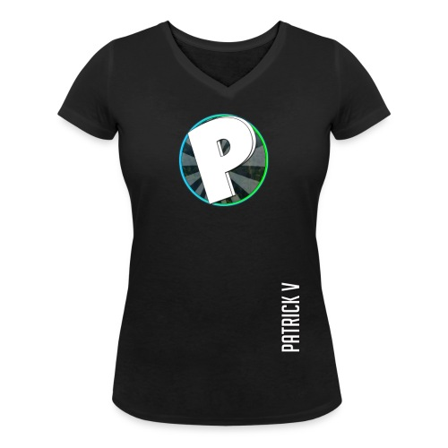 logo patrick v + name - Women's Organic V-Neck T-Shirt by Stanley & Stella