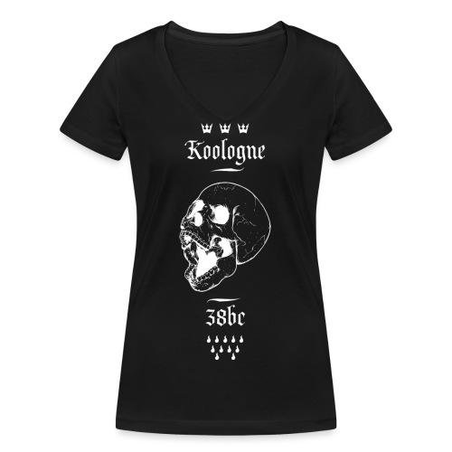 Koologne Skull - Frauen Bio-T-Shirt mit V-Ausschnitt von Stanley & Stella