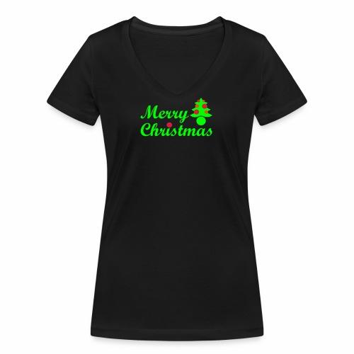 Merry Christmas - Frauen Bio-T-Shirt mit V-Ausschnitt von Stanley & Stella