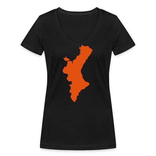 València - Camiseta ecológica mujer con cuello de pico de Stanley & Stella