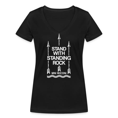 Stand - Økologisk Stanley & Stella T-shirt med V-udskæring til damer
