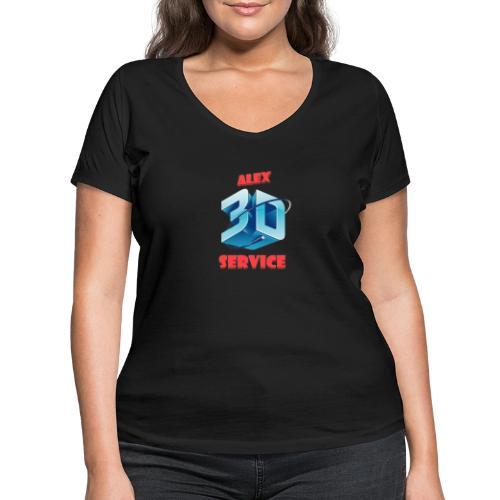 logo emporesa de impresion 3d en albacete - Camiseta ecológica mujer con cuello de pico de Stanley & Stella