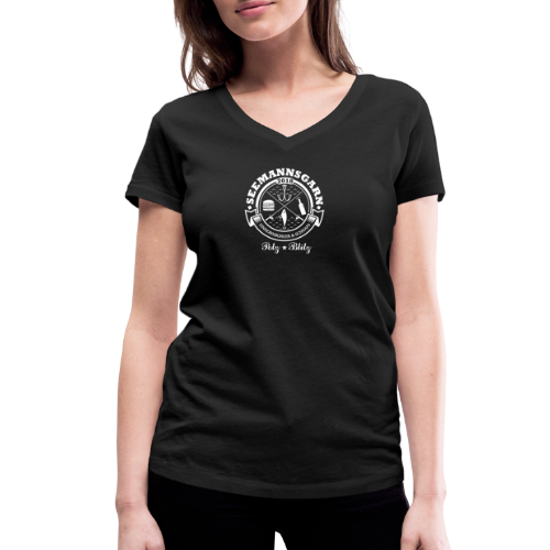 geweihbär Seemannsgarn 3 weiss - Frauen Bio-T-Shirt mit V-Ausschnitt von Stanley & Stella