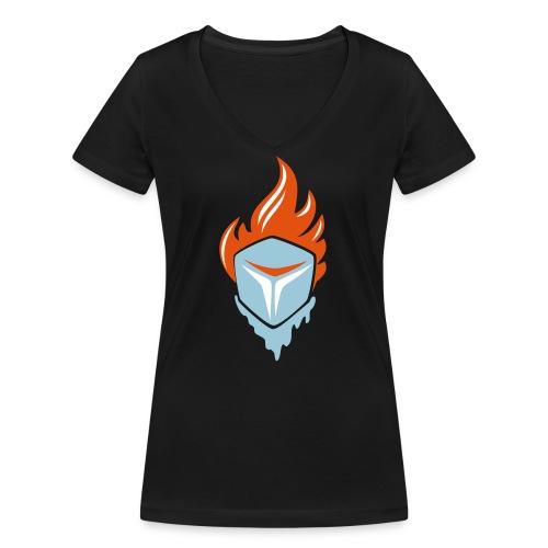 Fire and Ice 3C - Frauen Bio-T-Shirt mit V-Ausschnitt von Stanley & Stella