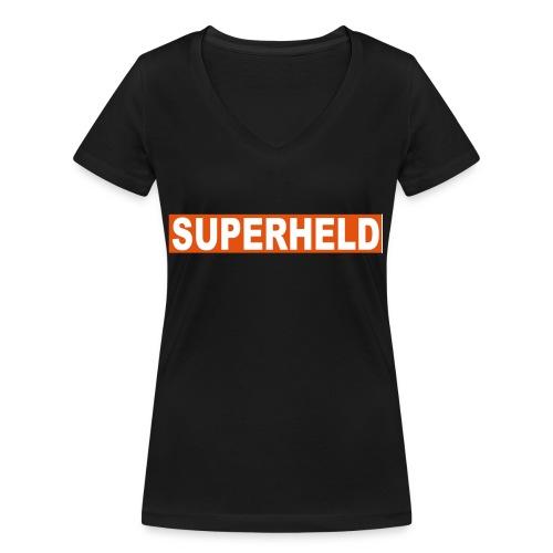 superheldin - Frauen Bio-T-Shirt mit V-Ausschnitt von Stanley & Stella