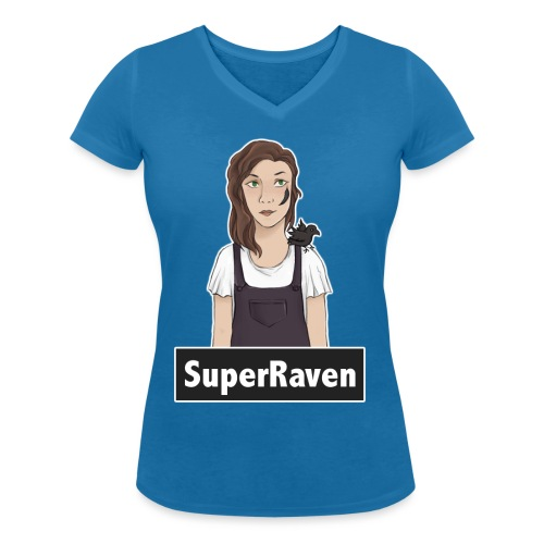 SuperRaven - Women's Organic V-Neck T-Shirt by Stanley & Stella