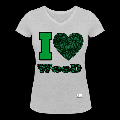 I Love weed - T-shirt bio col V Stanley & Stella Femme