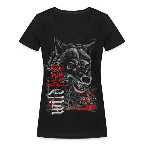 WILDFREE | WOLF - Frauen Bio-T-Shirt mit V-Ausschnitt von Stanley & Stella