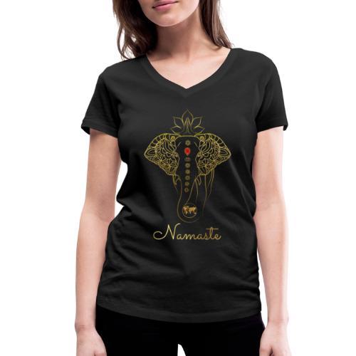 RUBINAWORLD - Namaste - Women's Organic V-Neck T-Shirt by Stanley & Stella