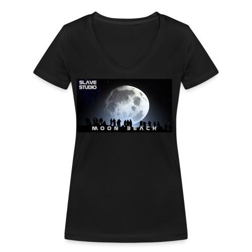 Moon beach - T-shirt ecologica da donna con scollo a V di Stanley & Stella