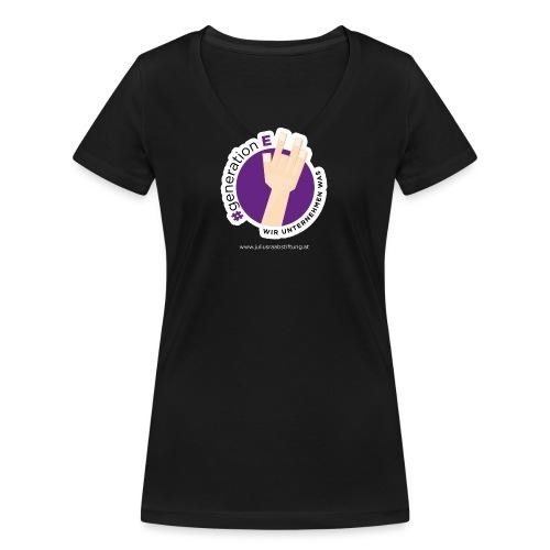 #generationE - wir unternehmen was - Frauen Bio-T-Shirt mit V-Ausschnitt von Stanley & Stella