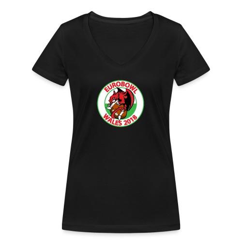 Eurobowl Wales 2018 - Women's Organic V-Neck T-Shirt by Stanley & Stella