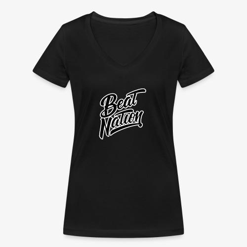 Logo Officiel Beat Nation Noir - Frauen Bio-T-Shirt mit V-Ausschnitt von Stanley & Stella