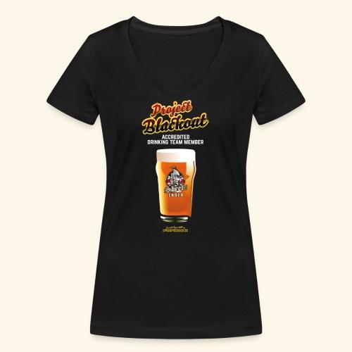 Drinking Shirt Project Blackout - Frauen Bio-T-Shirt mit V-Ausschnitt von Stanley & Stella