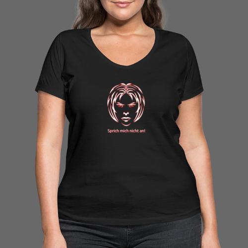 Nicht ansprechen! in weiß - Frauen Bio-T-Shirt mit V-Ausschnitt von Stanley & Stella