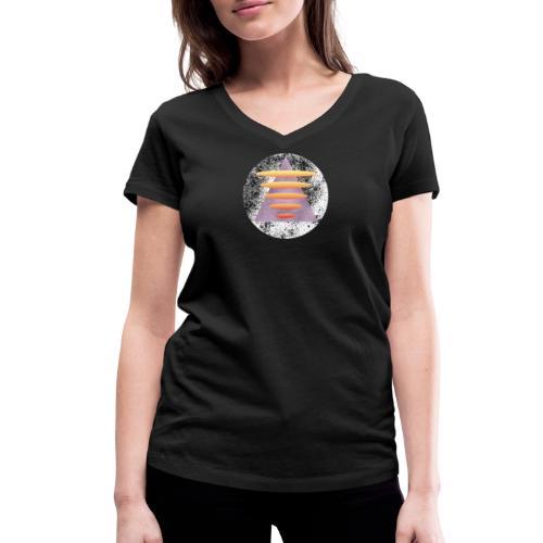 Triangle Gate - Økologisk T-skjorte med V-hals for kvinner fra Stanley & Stella