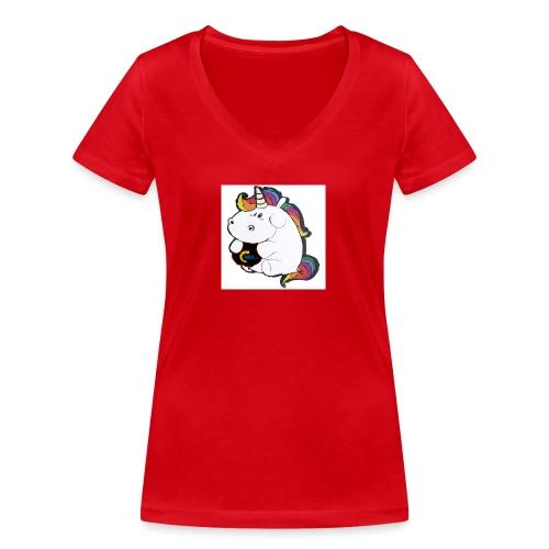 MIK Einhorn - Frauen Bio-T-Shirt mit V-Ausschnitt von Stanley & Stella
