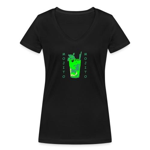 Mojito bicchiere colorato - T-shirt ecologica da donna con scollo a V di Stanley & Stella