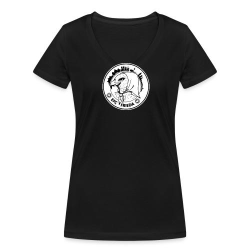 friedalogo png - Frauen Bio-T-Shirt mit V-Ausschnitt von Stanley & Stella