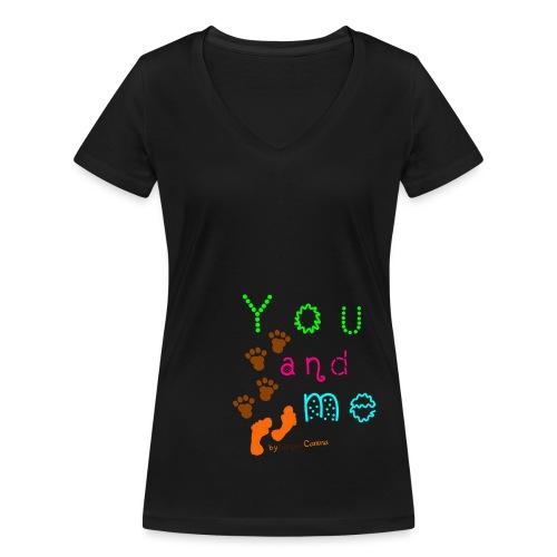 YouAndMe - Frauen Bio-T-Shirt mit V-Ausschnitt von Stanley & Stella
