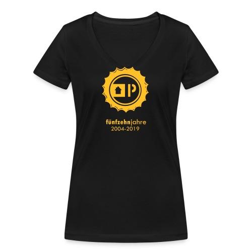 partyscheune15 jahr v3 - Frauen Bio-T-Shirt mit V-Ausschnitt von Stanley & Stella