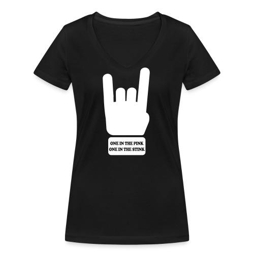 rock/metal one in the pink, one in the stink - Vrouwen bio T-shirt met V-hals van Stanley & Stella