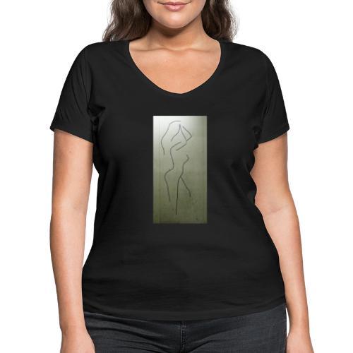 Magnetic Nude - Vrouwen bio T-shirt met V-hals van Stanley & Stella