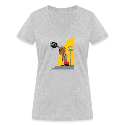 Bus stop - Vrouwen bio T-shirt met V-hals van Stanley & Stella