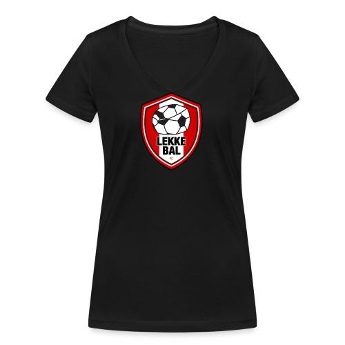 Lekke Bal FC - Vrouwen bio T-shirt met V-hals van Stanley & Stella