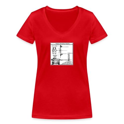 W.O.T War tactic, tank shot - Women's Organic V-Neck T-Shirt by Stanley & Stella