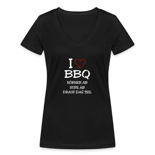 BBQ: I LOVE BARBECUE - Frauen Bio-T-Shirt mit V-Ausschnitt von Stanley & Stella