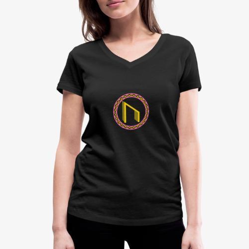 Uruz im Kreis - Frauen Bio-T-Shirt mit V-Ausschnitt von Stanley & Stella