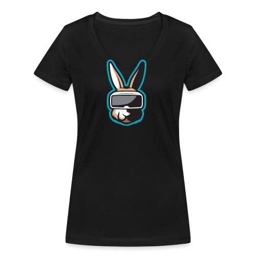TiG Rabbit logo - Women's Organic V-Neck T-Shirt by Stanley & Stella