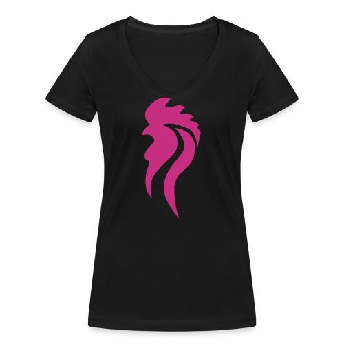 LogoNeu - Frauen Bio-T-Shirt mit V-Ausschnitt von Stanley & Stella