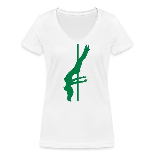 Pole Dance - T-shirt ecologica da donna con scollo a V di Stanley & Stella